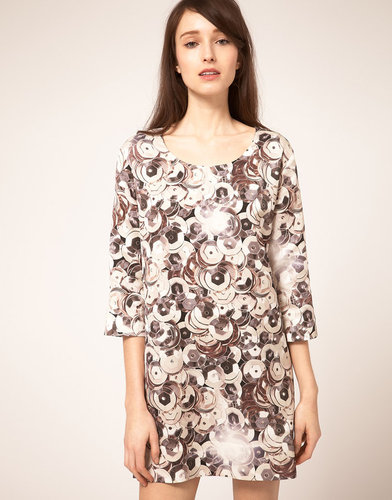 Emma Cook Shift Dress in Oversize Sequin Print