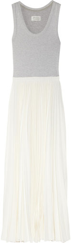 Maison Martin Margiela Stretch-cotton and crepe maxi dress