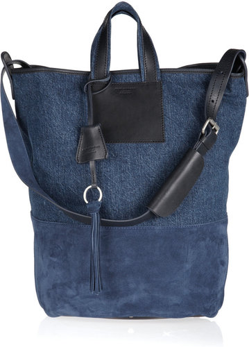 Acne Arden denim and suede tote