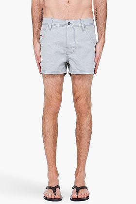 DIESEL Grey Sharck Swim Shorts
