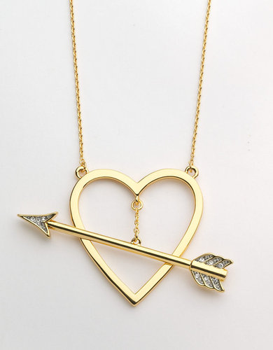 JUICY COUTURE Goldtone Heart & Arrow Pendant Necklace
