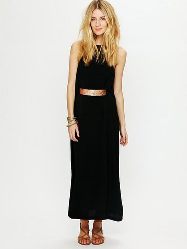 Shakuhachi High Neck Belted Maxi Dress