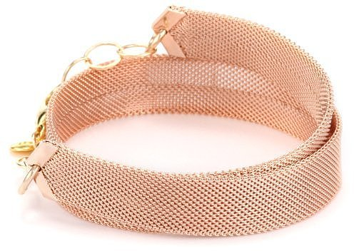"gorjana ""Kate"" Rose Gold-Plated Mesh Bracelet"