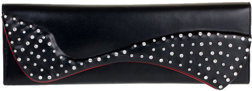 Christian Louboutin Pigalle nappa and strass clutch