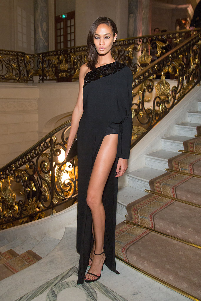 Joan Smalls dared to bare her entire leg at the CR Fashion Book party in Paris.