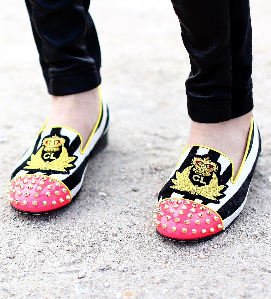 Christian Louboutin's studded loafers are proof that you don't need high heels to make a statement.