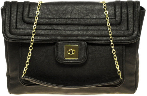 Black Flap Bag