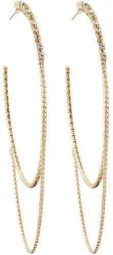 A. B. S. Rhinestone Hoop Swag Earrings