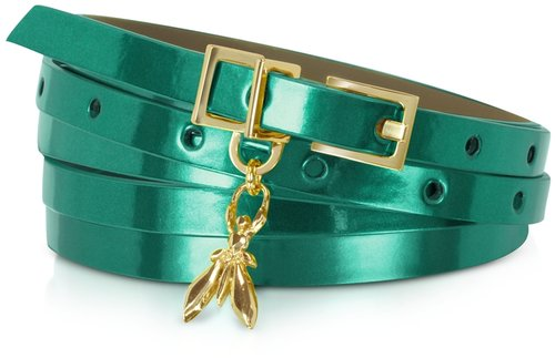 Patrizia Pepe Double Wrap-Around Patent Leather Belt