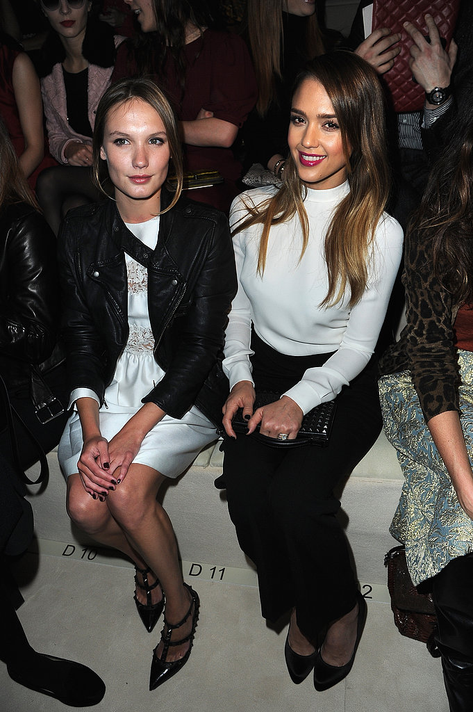 Ana Giraradot and Jessica Alba linked up at Valentino.