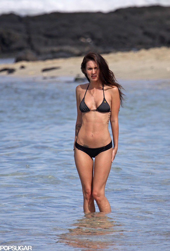 Megan Fox posed in December 2010 wearing a two-piece in Hawaii.