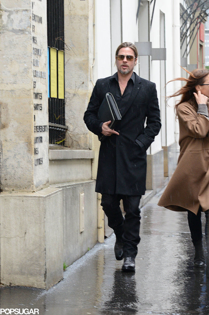 Brad Pitt went furniture shopping in Paris after news broke that his and Angelina Jolie's wine, Miraval, sold out of its first batch in just five hours.