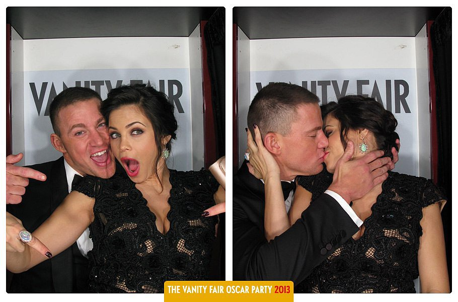 They posed in Vanity Fair's Oscars party photobooth in February 2013.