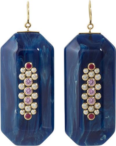 Mark Davis Bakelite & Multi-Gemstone Emmelyne 2 Earrings