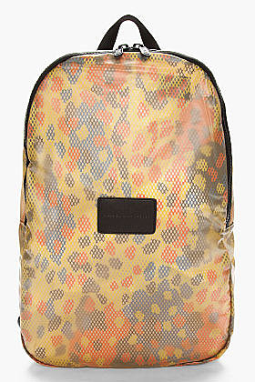 MARC BY MARC JACOBS yellow rubberized Mesh Packables backpack