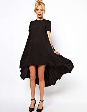 Image 1 of ASOS T-Shirt Dress With Dipped Back Hem