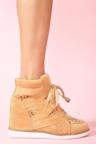 Venice Wedge Sneaker - Tan
