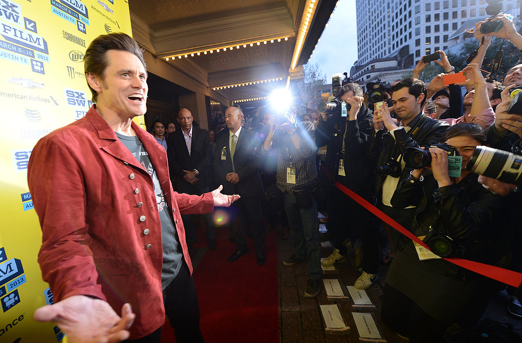 Jim Carrey posed on the red carpet at SXSW.