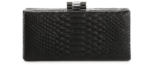 Lulu Townsend Crocodile Box Clutch