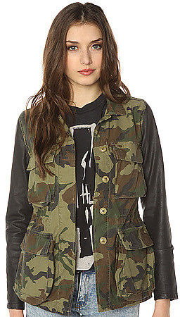 Obey The Hartman M65 Contrast Sleeve Jacket in Field Camo