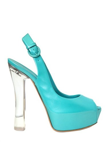 140mm Patent Glossy Open Toe Sandals