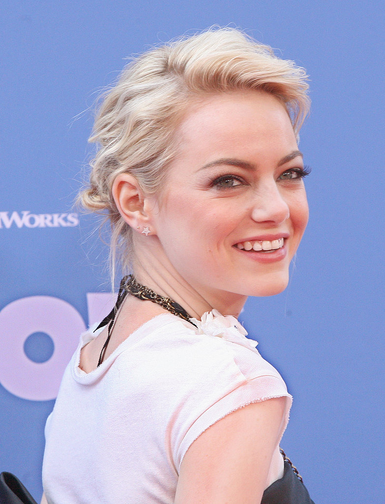 At The Croods NYC premiere, Emma Stone finished her Lanvin look with these dainty Julianne Himiko diamond star earrings ($440).