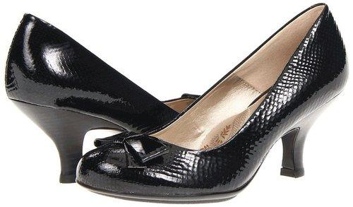 Sofft - Raquel (Black Snake Print Patent) - Footwear