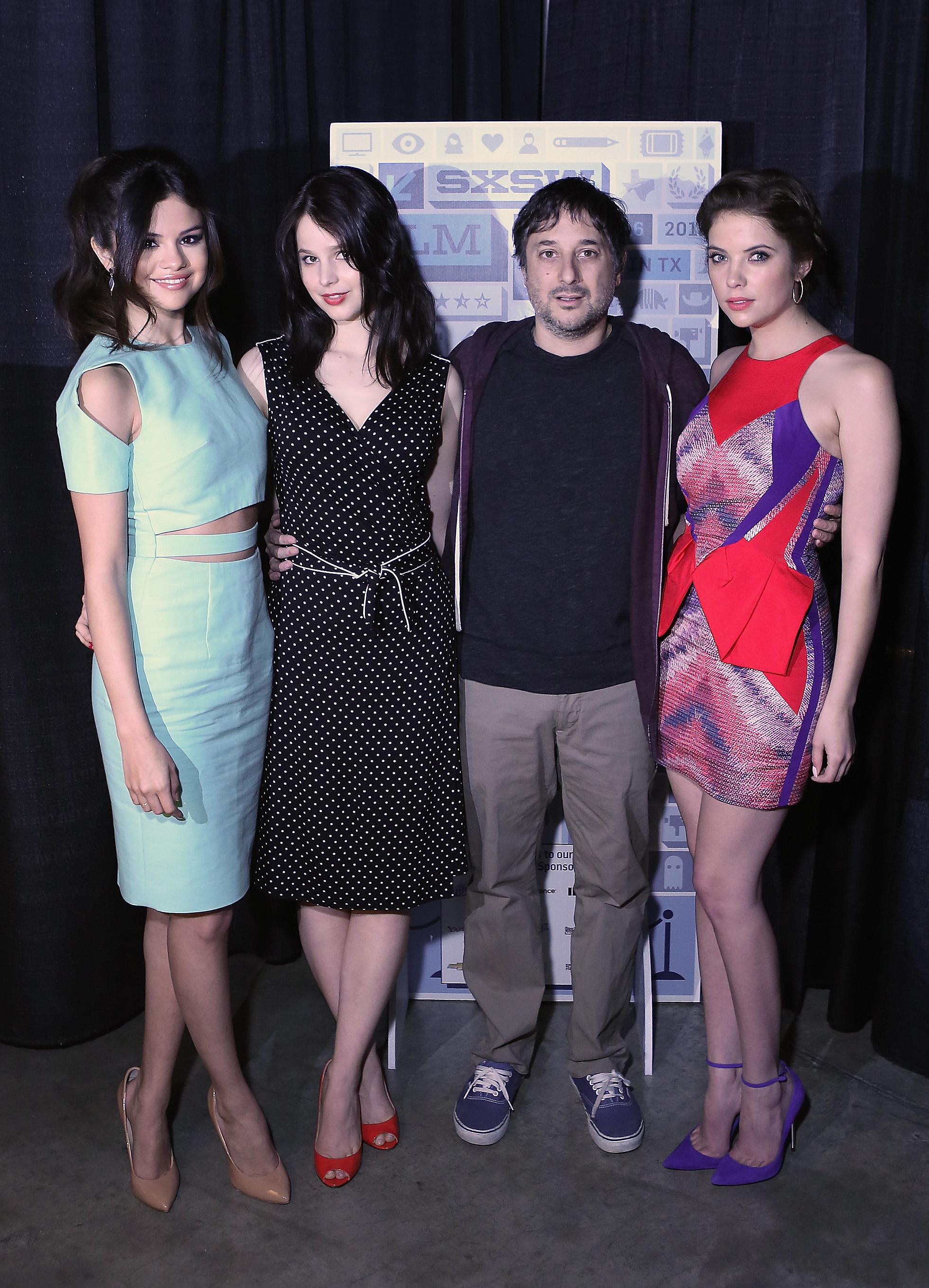Selena Gomez, Rachel Korine, and Ashley Benson talked Spring Breakers with director Harmony Korine.