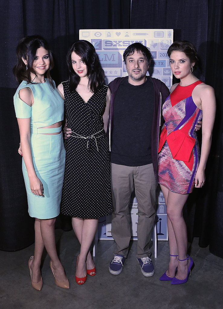 Selena Gomez, Rachel Korine, and Ashley Benson talked Spring Breakers with director Harmony Korine.