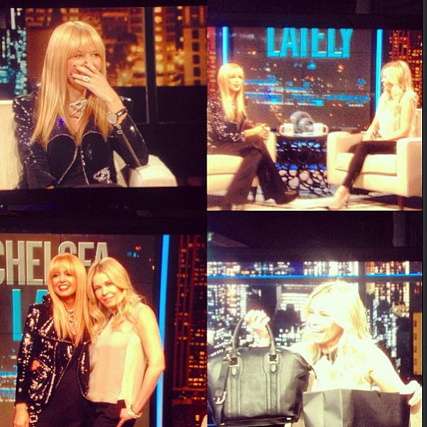 Rachel Zoe chatted with Chelsea Handler during an appearance on Chelsea Lately. Source: Instagram user rachelzoe