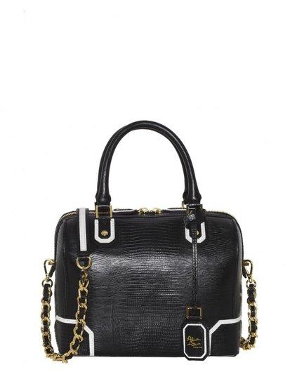 Olivia Lizard Embossed Leather Bag