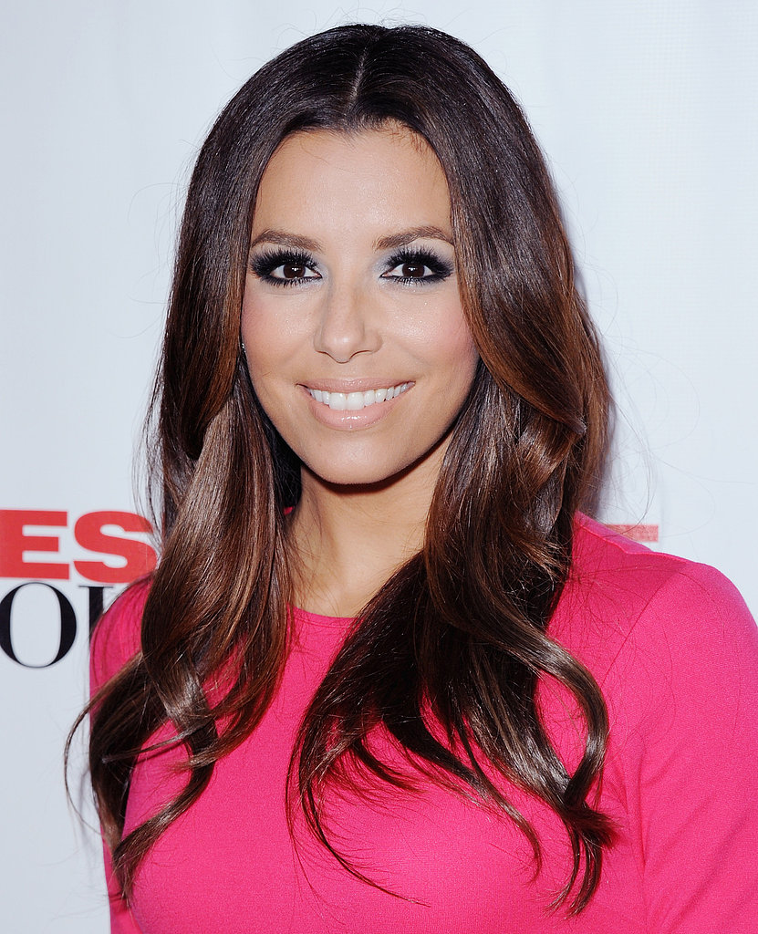 At the 2012 series finale of Desperate Housewives, Eva wore a bold pink number, which she paired with a classic blowout, smoky eyes, and nude lips.