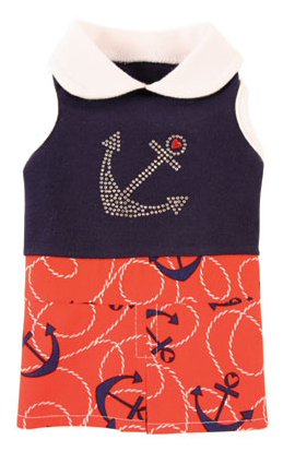 Nautical never goes out of style. Get your dog ready for Summer in the Hamptons with this