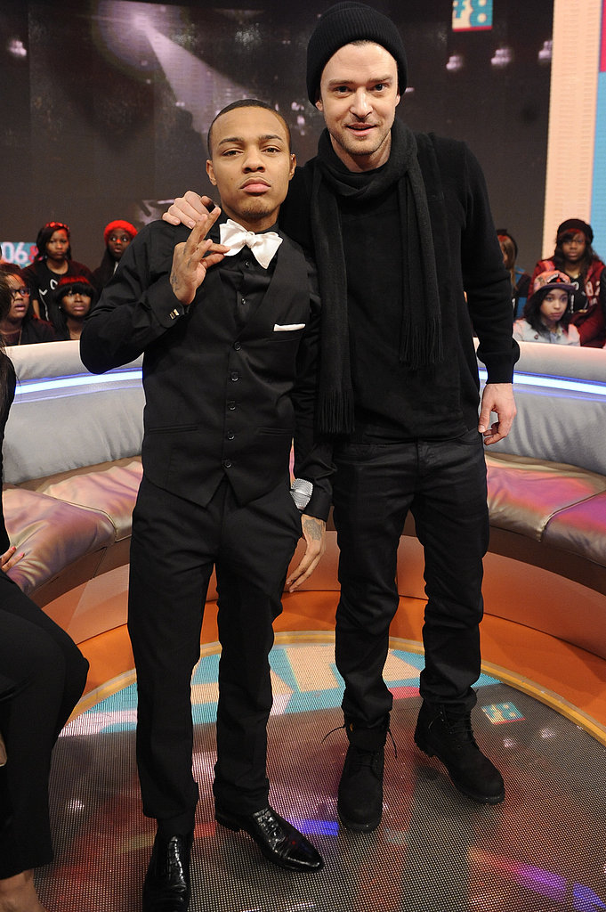 Justin Timberlake posed with host Bow Wow.