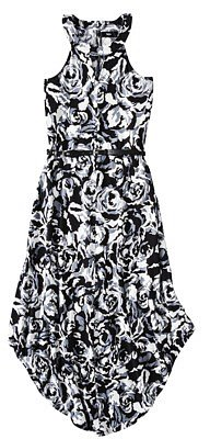 Mossimo® Women's High Low Trapeze Dress -Black/White Print
