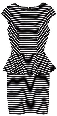 Mossimo® Women's Stripe Peplum Dress -Black/White