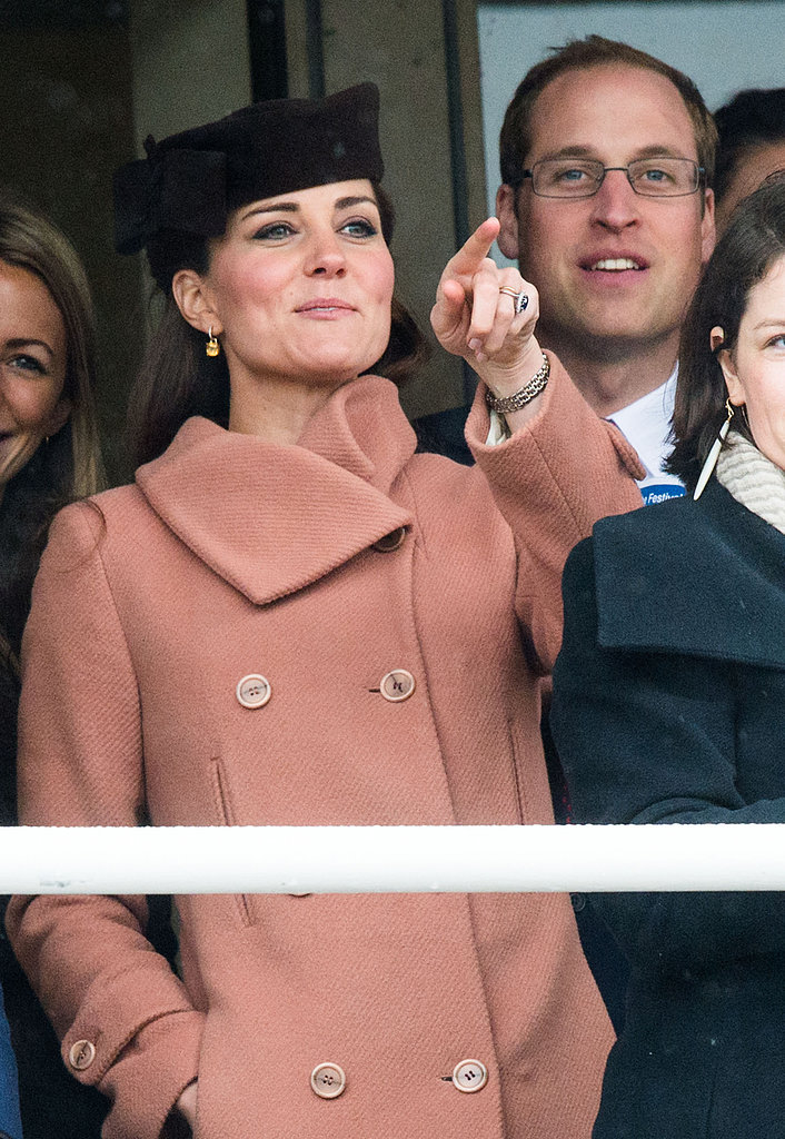 Kate Middleton and Prince William watched the races together.