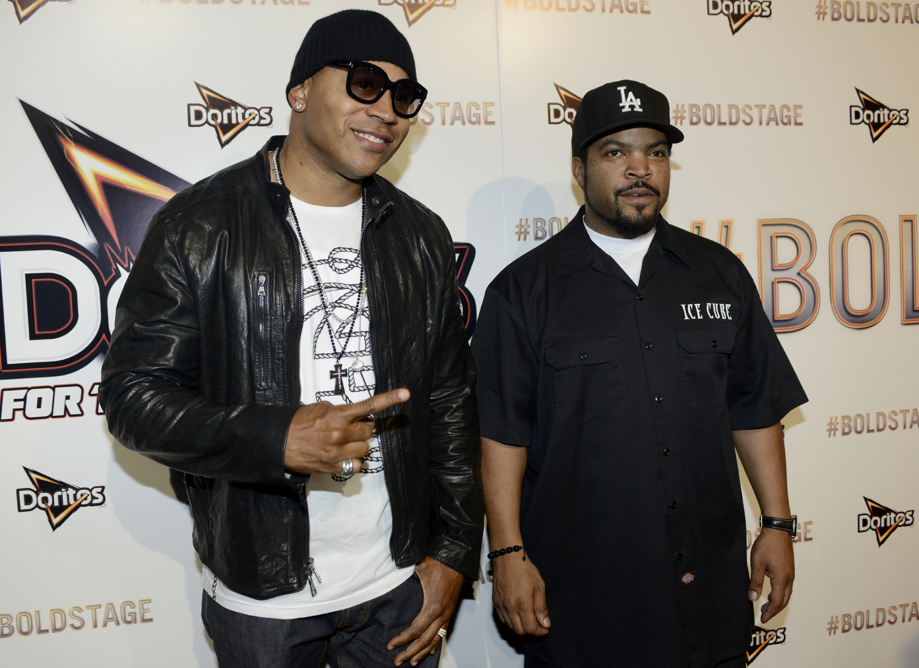 LL Cool J and Ice Cuve attended a Doritos event.