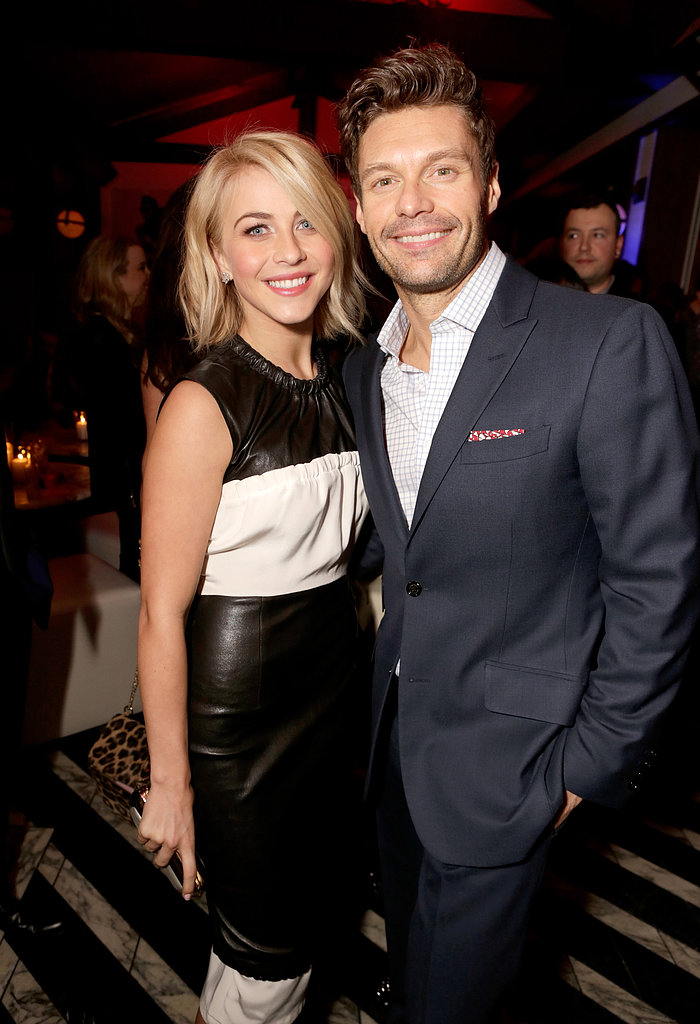 Julianne Hough and Ryan Seacrest got together for the opening of Topshop in LA in February.