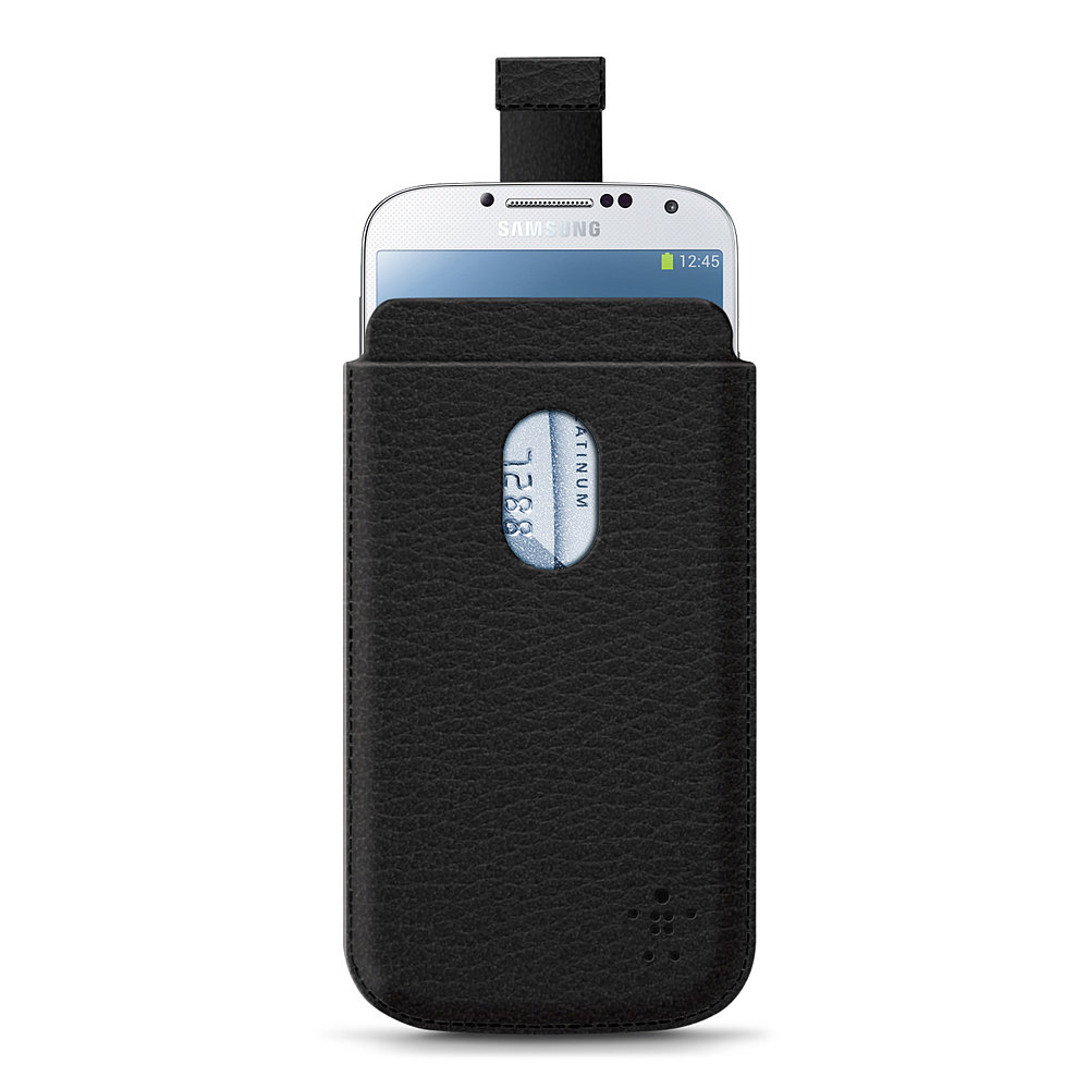 The Pocket Case ($25) stows away your Samsung Galaxy S4 in a leather-like pouch that has a pull tab to easily remove the device.