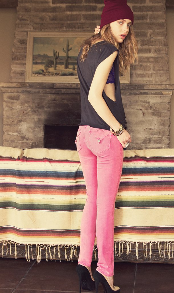 Score the model's Hudson rose jeans ($165) to work into your Spring and Summer mix.