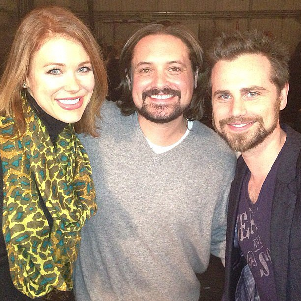 Maitland Ward, who played Rachel on Boy Meets World's later years, posed with Will Friedle and Strong on a set visit. Source: Instagram user amaitlandbaxter