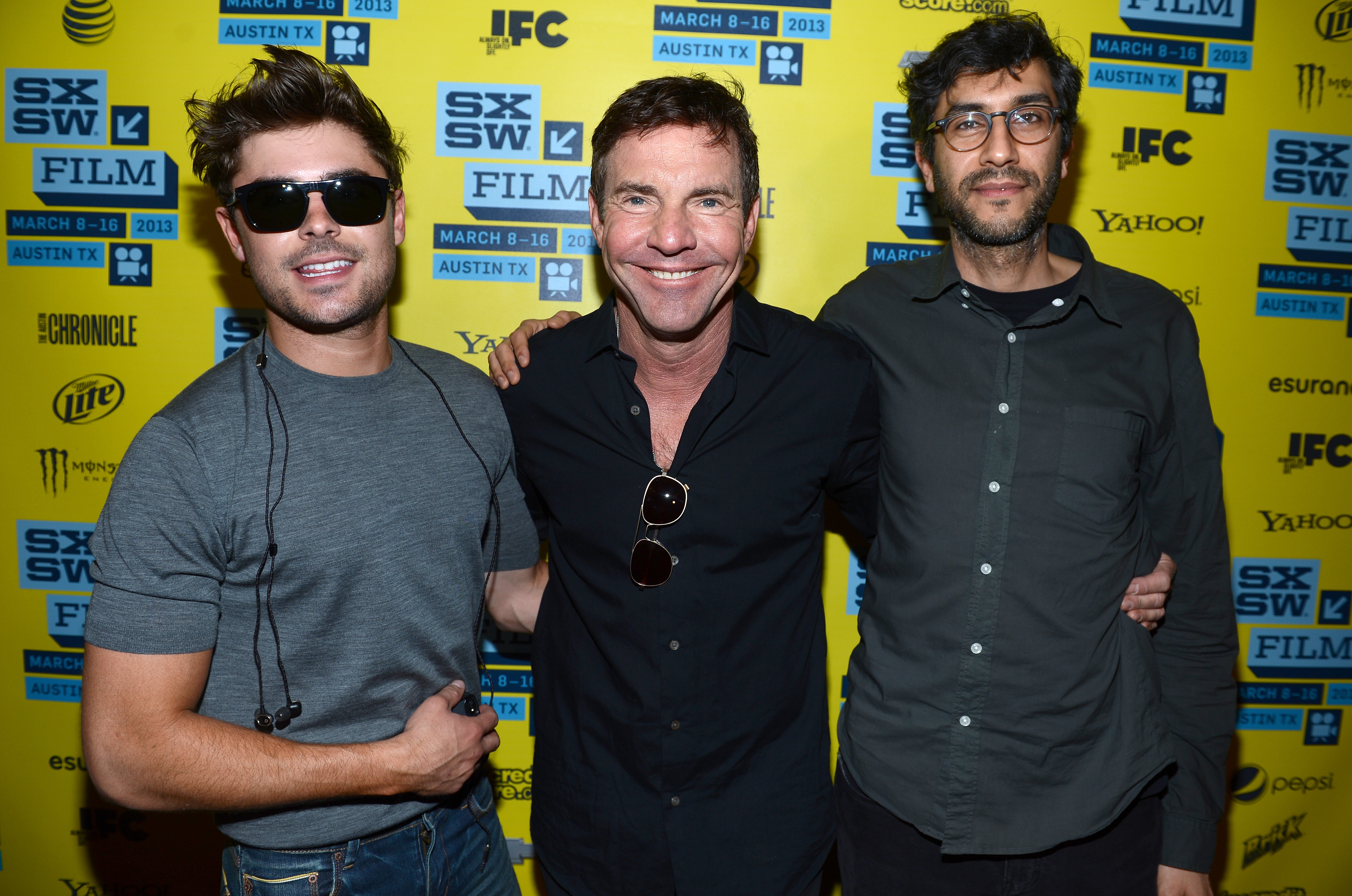 Zac Efron, Dennis Quaid, and Ramin Bahrani linked up for the At Any Price premiere at SXSW.