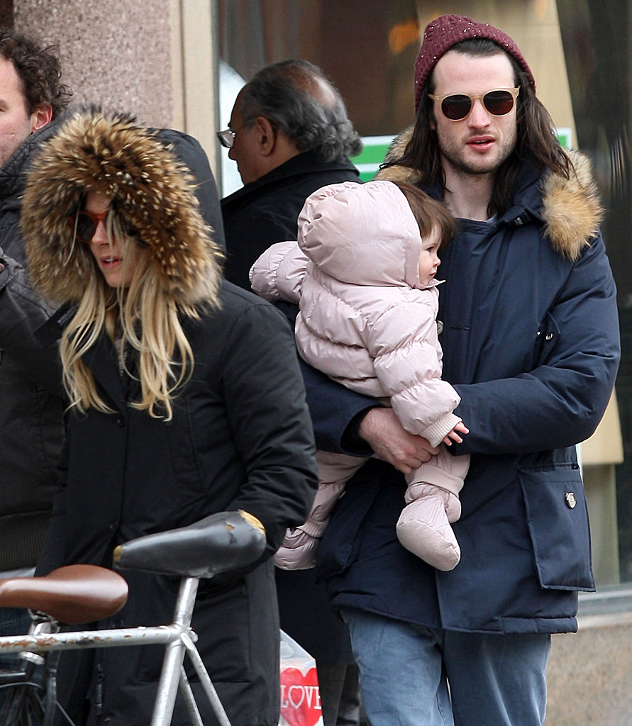 Sienna Miller Gives Marlowe Kisses in the Big Apple With Tom Sturridge