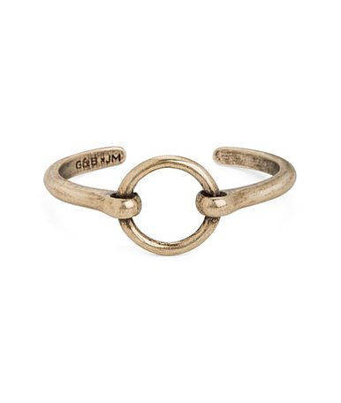 The cuff also comes in gold ($30) if you prefer something less polished and more subversive.