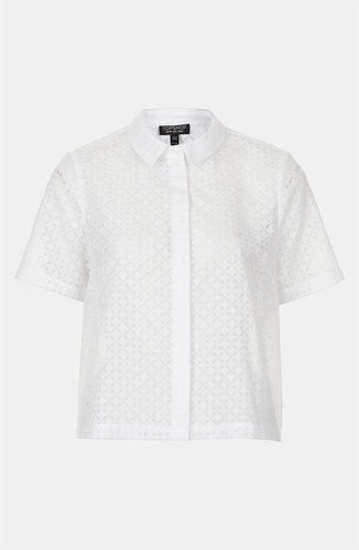 Topshop Geo Lace Shirt