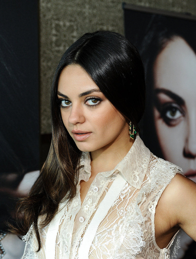 Add a little polish to your casual style with a shiny blowout. Make sure to use a medium round brush to get the curl at the ends like Mila Kunis.