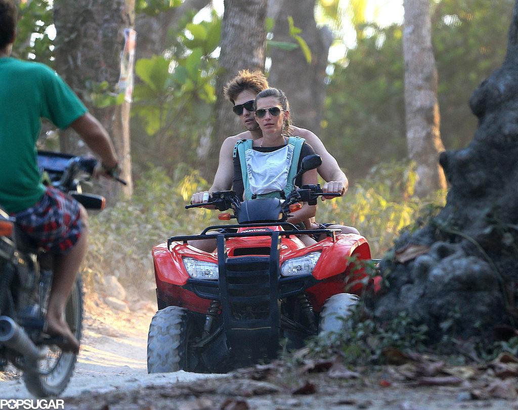 Tom Brady and Gisele Bündchen took Vivian for a ride.