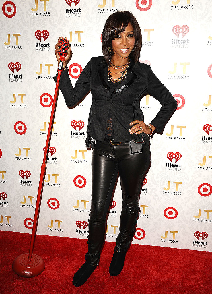 Holly Robinson Peete worked her stuff with a red mic.