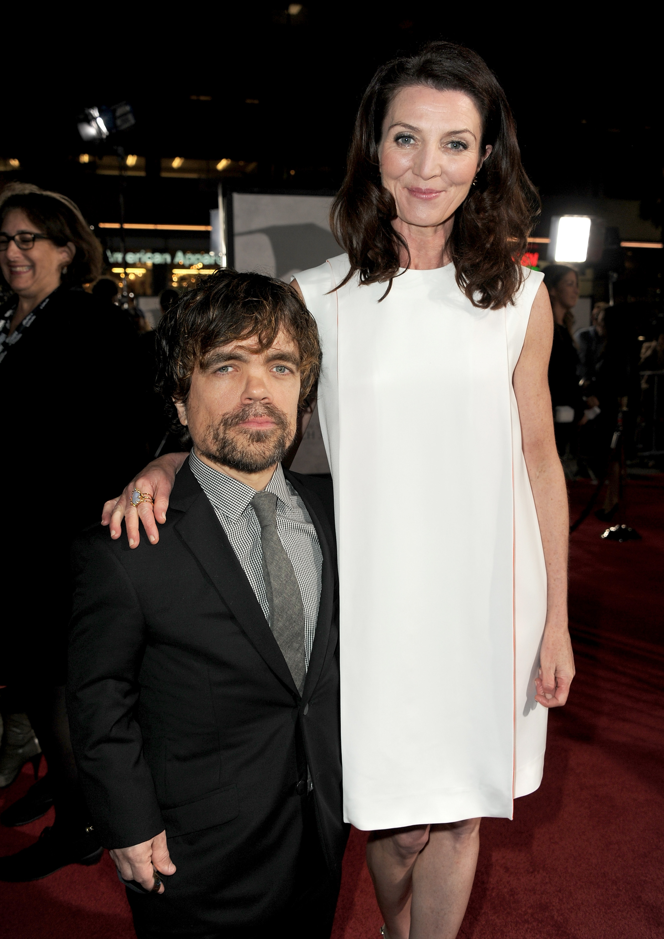 Peter Dinklage posed with Michelle Fairley.